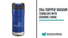 Printed 20 oz Copper Vacuum Tumblers with Ceramic Lining Tumblers, Vacuums, Copper, Ceramics, Printed, Products, Tumbler, Ceramic Art