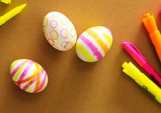 Clinton Kelly's office supply easter eggs: Make these with highlighters!