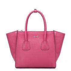 4d2f8d1459 NUCELLE dámská kožená kabelka Popular růžová Módní Kabelky