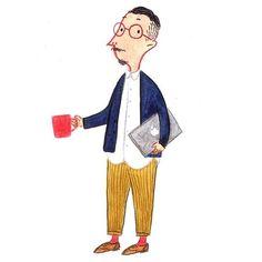 """좋아요 847개, 댓글 9개 - Instagram의 Fei Wang(@mr.slowboy)님: """"Cardigan: back to basic #menswear #mensfashion #fashionillustration #navycardigan #slowboy"""""""