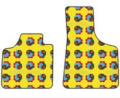 knall gelbe Autofußmatten