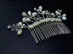 FREE SHIPPINGBridal Hair comb Crystal Hair by YourHappyWedding