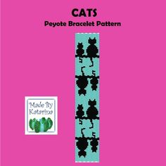 Peyote Pattern  Cats  Peyote Stitch Bracelet
