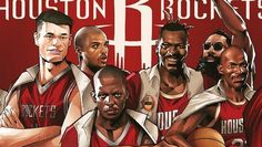 The Houston Rockets Avengers Illustration
