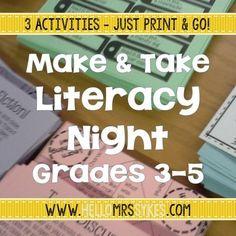 11 Best Family Literacy Night Images On Pinterest Reading