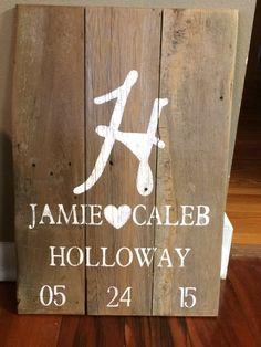 Rustic Wedding Sign-in Board $45.00 SOLD Custom Orders Taken!!!