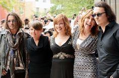 Johnny Depp, Damien Wayne Echols, Natalie Maines, Amy Berg and Lorri Davis at event of West of Memphis (2012)