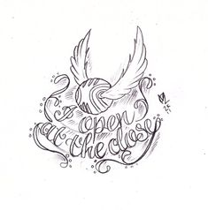 Open At The Close – Black Outline Snitch Tattoo Stencil By Nikita ...