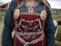 Bling and clothing of Haldis karldottir, Jarl's wife, member of Loup de fenrir