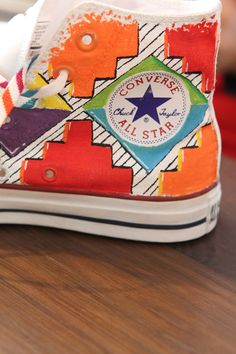 African inspired custom converse sneakers by Zabalazaa
