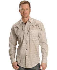 Stetson Fancy Embroidered Yoke Retro Western Shirt