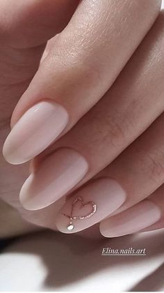 Nails, attempt the amazing easy art image reference 7406351165 here. Classy Nails, Stylish Nails, Trendy Nails, Subtle Nails, Pale Pink Nails, Orange Nails, Bride Nails, Wedding Nails, Dream Nails