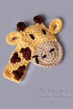 (4) Name: 'Crocheting : Freddie or Lola Giraffe Applique