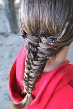 How to do a fishbone braid, Since I've masterd the french braid, I've really wanted to try the fishbone!!
