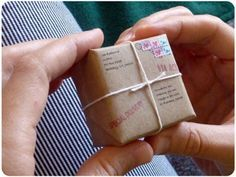 What a fun idea to send... A tiny package from the World's Smallest Postal Service