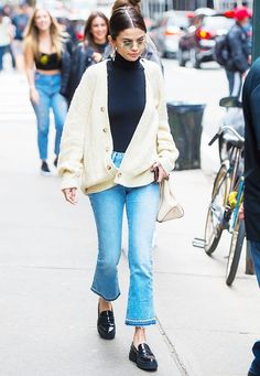 Selena Gomez can't stop wearing her Tod's moccasins this fall, and they look great with everything. See how she styles them here.