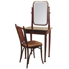 1stdibs | Austrian Bent-Wood Vanity & Chair, Secessionist, by Thonet