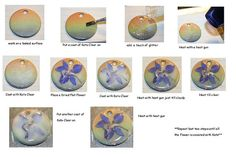 Dried flowers on clay tutorial... http://www.flickr.com/photos/14939649@N08/3095042629/in/faves-karinaptoxx/