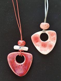 Ceramic pendants/ Ozlem Menekay