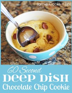 Deep Dish Chocolate Chip Cookie (a single serving in 60 seconds)