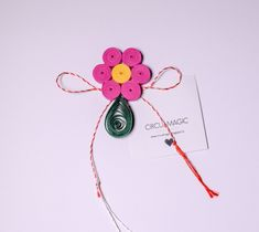 Quilling Paper Flower - DIY Favor | Pink Miniature Flower |  Martisoare Handmade 2018 Quilling - Circul Magic Quilling Flowers, Paper Flowers Diy, Diy Paper, Flower Diy, Miniatures, Magic, Christmas Ornaments, Holiday Decor, Pink