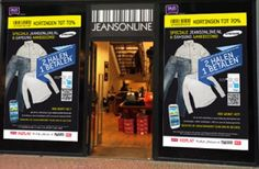 Window shopping in Amsterdam: Samsung and Jeansonline created a window shopping experience that allowed shoppers to shop when the store was closed and get discounts. They used NFC (near field communication) technology to instantly allow shoppers to purchase jeans by tapping the window with their phone.