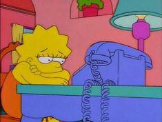 Trending GIF reaction lisa simpson mood phone waiting waiting for a call Cartoon Quotes, Cartoon Icons, Cartoon Gifs, Simpson Wallpaper Iphone, Cartoon Wallpaper, Bart Simpson, Simpson Wave, Lisa Simpsons, Simpsons Cartoon