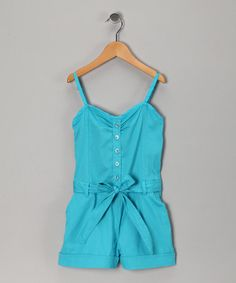 Aqua Reef Tie Romper from Chillipop on #zulily ------- This With Some Cute Accesories And Flip-Flops (: