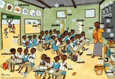 Vertelplaat school in Afrika