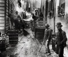 Nueva York antiguo. siglo XIX. Escenas cotidianas del día a día de los neoyorquinos