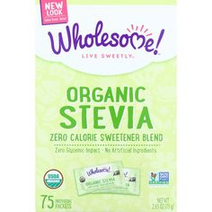 Wholesome Sweeteners Stevia - Organic - 75 Individual Packets - Case of 6