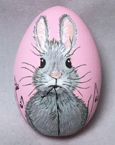 Hand painted Easter Egg, perfect for your chi. - marla center - Hand painted Easter Egg, perfect for your chi. Hand painted Easter Egg, perfect for your childs Easter Basket! All pieces are created by hand, - Pebble Painting, Pebble Art, Stone Painting, Painting Art, Painted Rock Animals, Painted Rocks, Hand Painted, Easter Egg Crafts, Easter Eggs