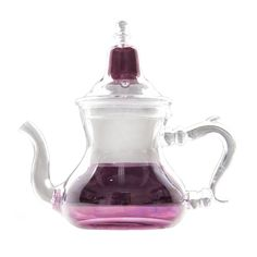 Accent your home with this delicately designed purple Moroccan-style teapot. Gather your best green tea leaves and mint and treat your guests to…