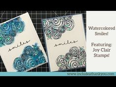 (336) Watercolor SMILES Card   Featuring Joy Clair Stamps   Simple Watercoloring - YouTube