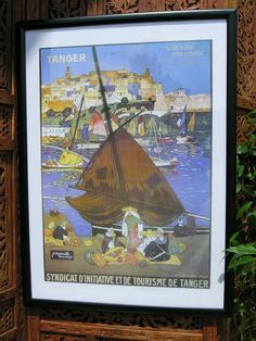 Framed print of historic Moroccan travel poster. http://www.maroque.co.uk/showitem.aspx?id=ENT05828&p=01570&n=all