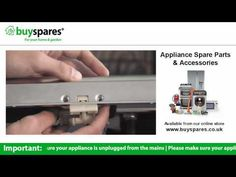 How to remove the door catch from a dishwasher, BuySpares 'how to videos'.