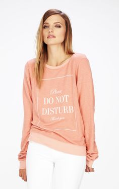 Wildfox Do Not Disturb Baggy Beach Jumper