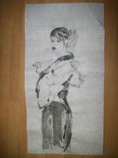 Geisha Sumi-e