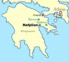Nafplion, sometimes written Nafplio, is a seaport town in Greece, located on Argolikos Bay in the northeast Peloponnese (see a map of the Peloponnese). Nafplion has many attractions to visit and can serve as a base to some of Greece's most famous archaeological sites.