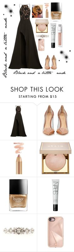 """""""Black & a little nude"""" by neathedesigner1 on Polyvore featuring Elle Zeitoune, Gianvito Rossi, Stila, Butter London, NARS Cosmetics, Dolce&Gabbana and Rebecca Minkoff"""