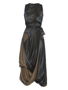 Vivienne Westwood Anglomania Eight bi-colour sleeveless draped dress Couture Dresses, Fashion Dresses, Urban Fashion, Fashion Looks, Calf Length Dress, Kohls Dresses, Vivienne Westwood Anglomania, Matches Fashion, Draped Dress