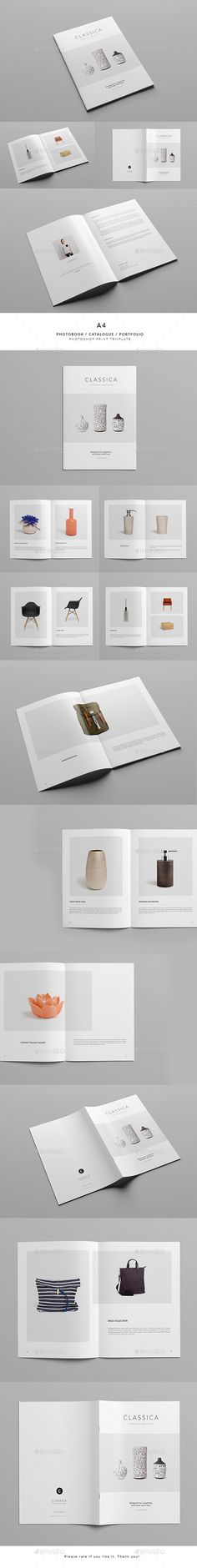 Classica / Multipurpose Minimal Portfolio Brochure Template PSD. Download here: http://graphicriver.net/item/classica-multipurpose-minimal-portfolio/15284269?ref=ksioks