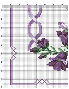 This Pin was discovered by Nes Cross Stitch Heart, Cross Stitch Borders, Crochet Borders, Cross Stitch Flowers, Cross Stitching, Cross Stitch Patterns, Hand Embroidery Art, Cross Stitch Embroidery, Christmas Cross