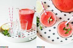 Pyszny i prosty przepis na lemoniadę arbuzową z dodatkiem cytryn i świeżej mięty. Zobacz pyszny przepis na blogu. Polecam.