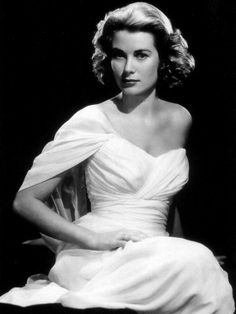 """Beautiful Gown, Beautiful Woman - All About Grace Kelly #photography - Black & White"""