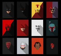 minimal heroes by Yousuf Khan, via Behance Flat Illustration, Character Illustration, Graphic Design Illustration, Web Design, Design Art, Flat Design, Iron Man Photos, Poster Minimalista, Sketch Painting