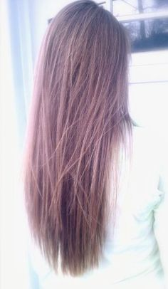 Long razor hair cut with texture and layering in the ends.  Perfect.  Love it.