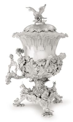 An Irish silver tea urn, Robert W. Smith, Dublin, 1836 SOLD. 32,500 USD
