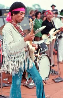 1970 - Jimmy Hendrix Rock legend. Men's Hippie style extending into the 70's