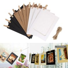 10 PCS 6 Inch Combination Wall Photo Frame DIY Hanging Picture Album Home Decoration Rectangle Wall Picture Frame